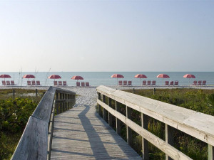 Boardwalk to beach at The Inns of Sanibel.