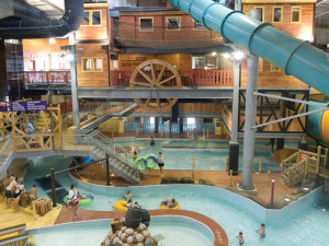 Indoor waterpark at Double JJ Resort.
