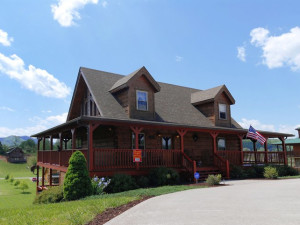 Exterior view of Fireside Chalets & Cabin Rentals.
