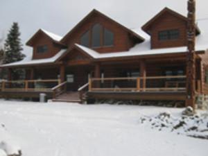 Winter time at Solbakken Resort.