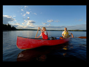 Canoeing at Churchill River Canoe Outfitters.