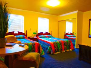 Guest room at Pegasus International Hotel.