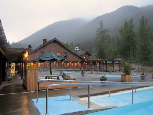Exterior view of Sol Duc Hot Springs Resort.
