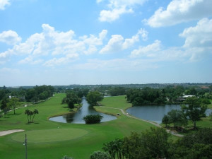 Golf course near Shoreline Island Resort.