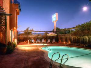 Outdoor pool at Chablis Inn Napa Valley.