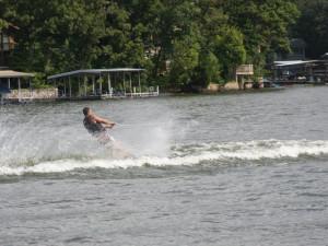 Water skiing at Point Randall Resort.