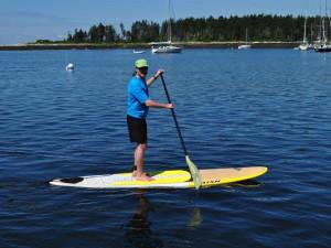 Paddle boarding at Sebasco Harbor Resort.