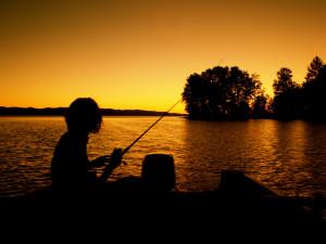 Fishing at Wilderness Resort & Retreat.