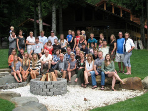 Family reunion at Western Pleasure Guest Ranch.