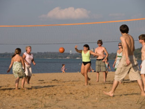 Beach volleyball at Tamarack Lodge.