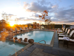 Outdoor pool at JW Marriott The Rosseau Muskoka Resort & Spa.