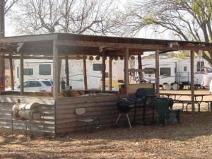 Outdoor gazebo at Poppy's Pointe Resort.