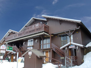 Exterior view of Karelia Alpine Lodge.