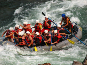 Rafting at River Canyon Retreat.