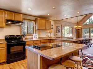Rental kitchen at Summit Vacations.