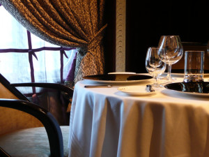 Romantic dining at Coachman's Golf Resort.