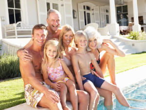 Family at Naples Florida Vacation Homes.