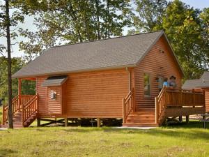 Cabin exterior at Creekside Resort.