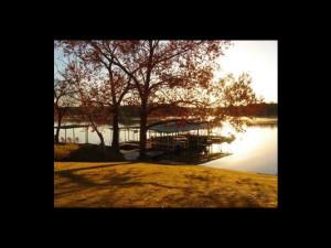 Sunrise at Valentine Lakeside Resort.