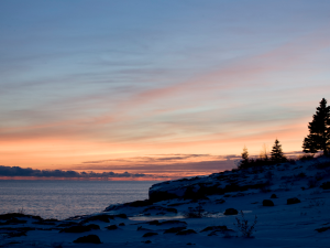 Sunrise at Surfside on Lake Superior.