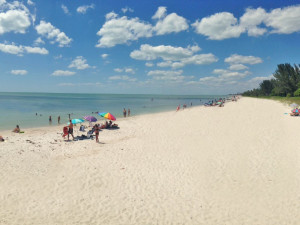Beach at Cove Inn on Naples Bay.