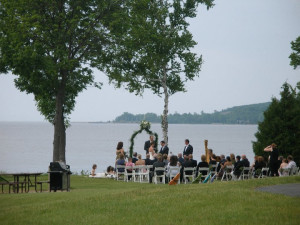 Outside wedding at Bay Shore Inn.
