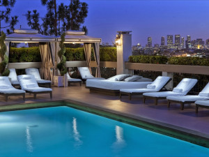Outdoor pool at Chamberlain West Hollywood Hotel.