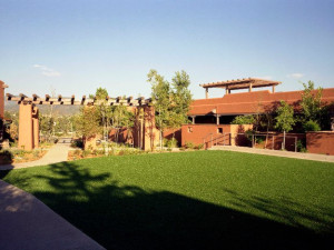 Courtyard at The Lodge at Santa Fe.