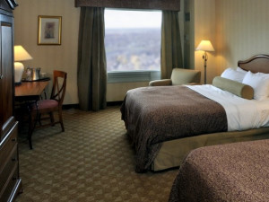 Guest Room at the Hilton Niagara Falls