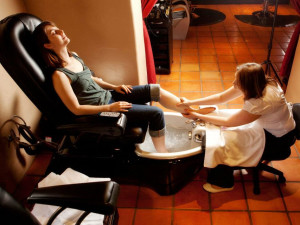 Pedicure at Tubac Golf Resort.