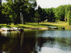 Docks at Musky Joes Twin Pines Resort.