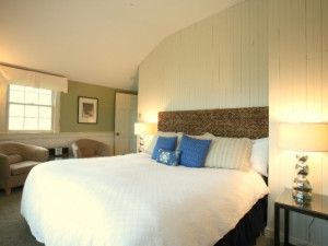 Cottage master bedroom at The Beach House Inn.