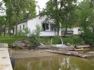 Cabin exterior at Mill Lake Resort.