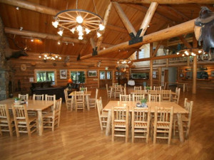 Dining room at Western Pleasure Guest Ranch.