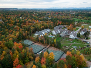 Aerial view of Essex Resort & Spa.