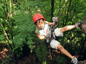 Zip line at ACE Adventure Resort.