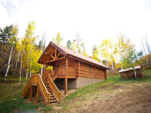 Cabin exterior at Kessler Canyon.