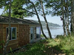 Cabin exterior at Chito Beach Resort.