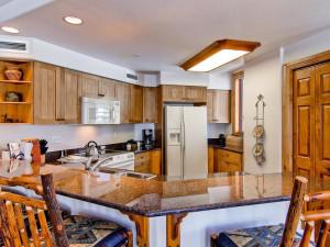 Rental kitchen at Torian Plum Resort.