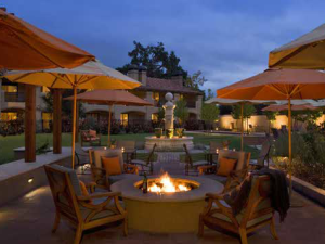 Fire pit at Napa Valley Lodge.