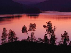 The lake at Eagle Wing Resort.