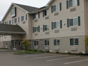 Exterior view of GuestHouse Inn & Suites Aberdeen.