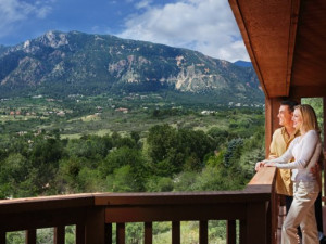 Private balcony at Cheyenne Mountain Resort.