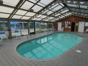 Indoor pool at Mariner Resort.