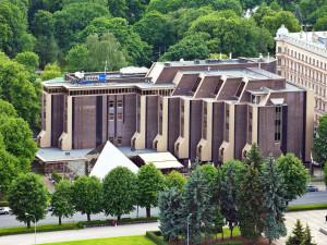 Exterior view of Radisson Blu Ridzene Hotel Riga.