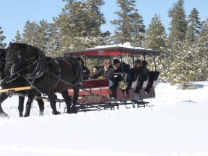 Sleigh ride at Ruby's Inn.