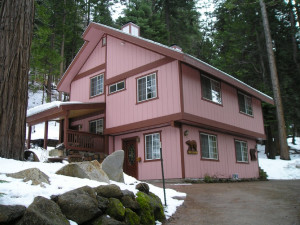 Exterior view of Cozy Bear Cottages.