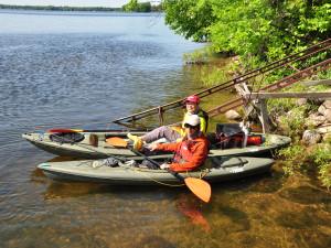 Kayaking at Lake Dalrymple Resort.