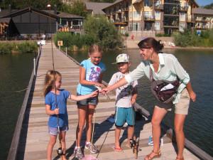Fishing at Summerland Waterfront Resort.