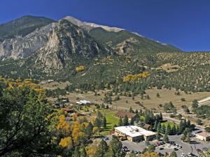 Mountain view at Mt. Princeton Hot Springs Resort.